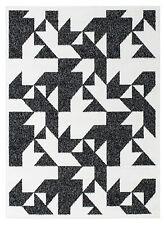 Teppich Kurzflor Hochwertig Muster 5772-Weiß Grau 80 120 140 160 200