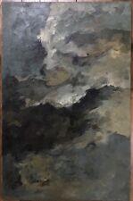 Tableau Composition Abstraite Peinture années 60 de Marie L Hardy 1911-1987