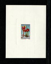 Gabon 1969 Flora Scott 244-8 Set of 5 Sunken Die Deluxe Proofs