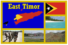 EAST TIMOR, ASIA, MAP, FLAG & SIGHTS - SOUVENIR FUN NOVELTY FRIDGE MAGNET - NEW