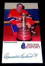 MAURICE THE ROCKET RICHARD HOF 1961 SIGNED AUTOGRAPHED OVER SIZED POST CARD