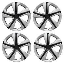 "NEW 2016-2017 Honda CIVIC 16"" 5-spoke Silver Black Hubcap Wheelcover SET OF 4"