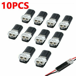 10 Pcs 2-Pin Way Car Motorcycle Sealed Waterproof Electrical Wire Connector Plug