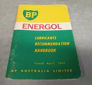 1964 BP ENERGOL Lubricants Recommendations Handbook HOLDEN FORD etc