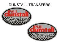 Dunstall Norton Transfers Decals Sold as a Pair D20084 Red Silver