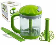 NEW Premium FoodTech Manual Food Chopper and Salad Chopper, Hand Powered Spinner