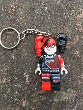 Harley Quinn Keyring Keychain Minifigure UK SELLER