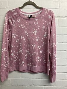 Jaclyn Intimates Pink And White Star Pyjamas Size M