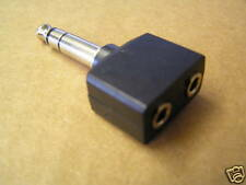 Stereo Splitter 6.35 plug to 2 x 3.5mm sockets OM0703