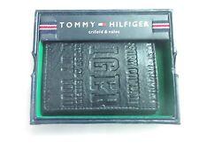 Tommy Hilfiger Cuero Plegable Cartera Triple logotipo en relieve (Negro)