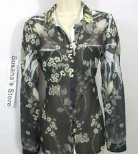NEW Guess Sheer Printed Studded Shirt SIZE XS Fits size S too, Classy deluxe!!