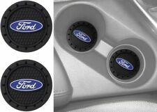 Set of 2  Plasticolor 000651R01 Ford Oval Cup Holder Coaster FREE SHIPPING