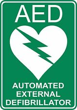 25 X  AED DEFIBRILLATOR STICKER SAFETY SIGNS BUSINESS PUB CAFE SCHOOL TAXI COACH