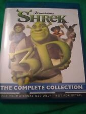 Shrek 3D The Complete Collection (Blu-ray) vg free shipping
