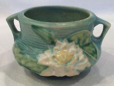 Roseville Water Lily 663-3 Vintage American Art Pottery Cache Pot Vase U.S.A.
