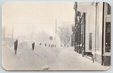 Berrien Springs MI~Parking Meters Between Drifts~Stop Sign~Snow Storm of 1958