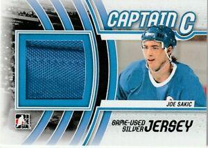 2011-12 In The Game Captain-C - Jerseys Silver  #M-25  Joe SAKIC