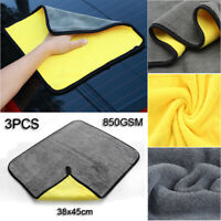 Set Of 3Pcs Towel Auto Drying Care Chemical Guys Microfiber Cleaning Clothes Hot