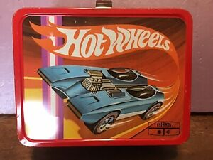 Hot Wheels Vintage Metal Lunchbox (1969) by King Seeley with Thermos