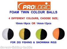 Prologic Foam Twin Colour Balls Ideal for Snowman and Zig Rigs Carp Fishing 14mm (12pcs)
