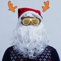 Santa Beard and Moustache Christmas Pom Soft Santa Claus Hat Adult Costume