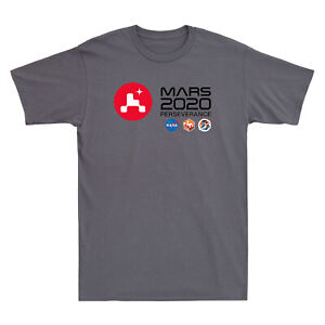 NASA SPACE Mars 2020 Mission Perseverance Rover Science Adult Men's T-Shirt Tee