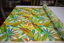 RICHLOOM CANTRELL SPRINGS TROPICAL LEAF OUTDOOR INDOOR UPHOLSTERY FABRIC