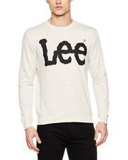 Lee Men's Logo Sws Sweatshirt Beige (Ecru Mele) XXL BNWT