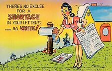 POSTCARD  COMIC  USA  There is no excuse for a ....