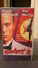 Bloodsport 3 III Three VHS video tape sell thru HTF kung fu karate Pat Morita