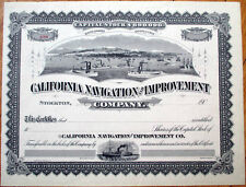 1905 Stock Certificate: 'California Navigation & Improvement Co.' - Stockton, CA