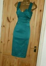 Phase Eight stretch satin pencil wiggle cocktail evening party dress size 12