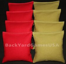 ALL WEATHER CORNHOLE BEAN BAGS Red & Olive Resin Filled WATERPROOF
