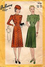 1940's VTG Du Barry Misses' Dress Pattern 5012B Size 18