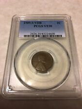 1909 S VDB PCGS VF30 1C Lincoln Cent Wheat Ears Penny good coin for the grade
