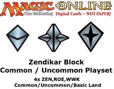 MTGO Magic Online Zendikar Block 4xCommon/Uncommon/Land Playset ZEN ROE WWK