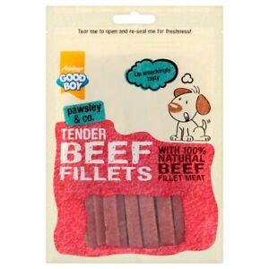 GOOD BOY TENDER 100% NATURAL BEEF FILLETS DOG TREATS 90G X 10 PACKS BULK BUY