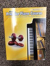 Alfred's Premier Piano Course Technique 1B Book