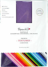 Papermania A4 Capsule Collection Canvas Texture Card Cardstock- 75 Colour Sheets