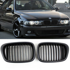 2x Black Matte Front Kidney Grilles Grill For BMW E39 525 528 530 535 M5 97-03