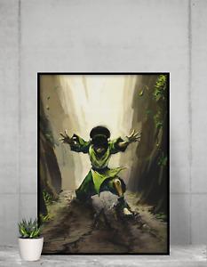 Avatar legend of Aang Poster Toph Beifong Wall Art print design Size A4 A3 A2