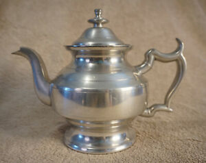 Vintage Woodbury Pewterers Teapot Kettle Pewter Hand Crafted