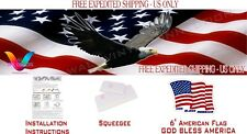 Eagle American Flag Pickup Truck Perforated Rear Windows Decal,  DESIGN #1