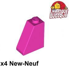 Lego - 4x slope brique pente inclinée 65 2x1x2 rose foncé/dark pink 60481 NEUF
