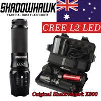 20000lm Genuine Shadowhawk X800 Tactical Flashlight LED Zoom Military Torch G700