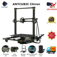 US ANYCUBIC Chiron Auto Leveling 3D Printer with Ultrabase Heatbed 400x400x450mm