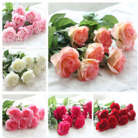 7 Color 10pcs-40pcs Latex Real Touch Rose 6CM Flowers Bouquet wedding Home Decor