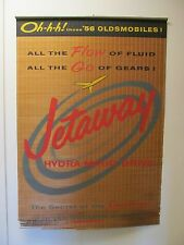 1956 Oldsmobile Jetaway Hydramatic Dealership Wall Sign Window Shade Display 56