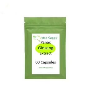 Panax Korean GINSENG Extract 60 x 500mg Capsules FREE POSTAGE Oz Store WELLBEING