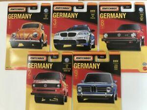 2021 Matchbox Stars Of Germany, Stars Of UK, Stars of France Diecast Car 1:64